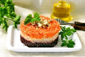 Салат из свёклы, моркови и сельдерея