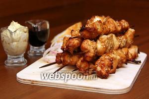 Шашлык из филе курицы в духовке
