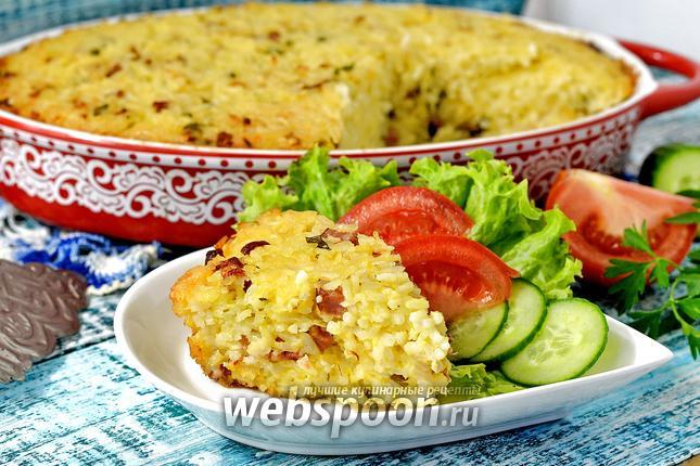 Фото Рисовая запеканка с ветчиной и сыром