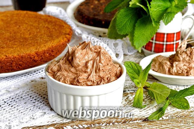 Фото Крем из сгущёнки, сливочного масла и какао