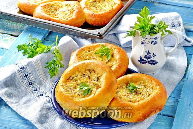 Фото Ватрушки с копчёным сыром и укропом
