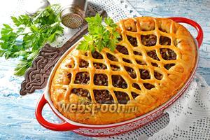 Пирог с куриными сердечками