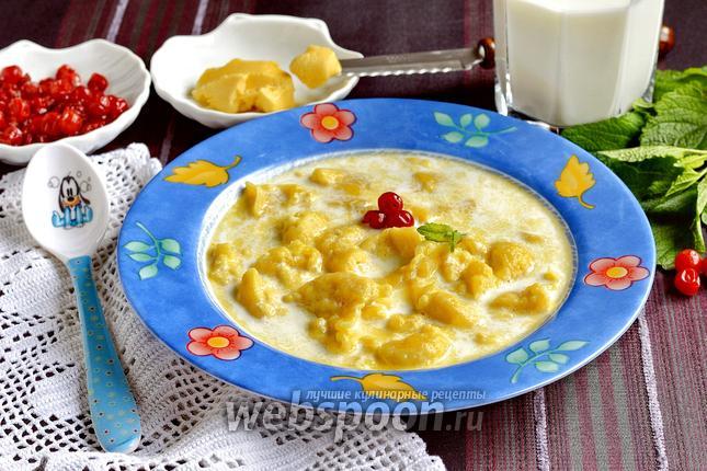 Фото Молочный суп с клёцками