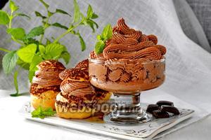 Творожно-шоколадный крем