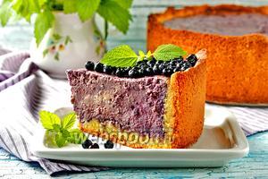 Пирог с творогом и черникой