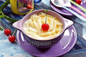 Молочный суп с макаронами для детей