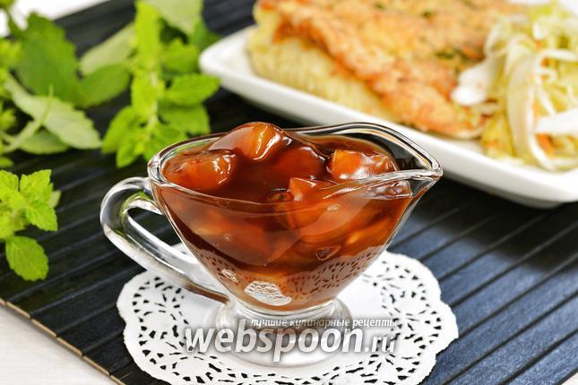 Фото Кисло-сладкий соус с ананасом
