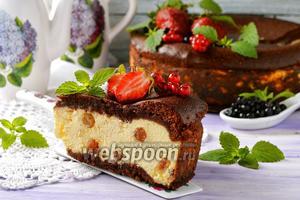 Наливной пирог с творогом