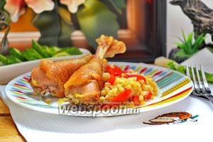 Домашняя курица с булгуром в мультиварке