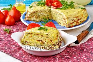 Кабачковый торт с плавленным сыром