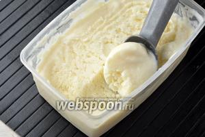 Молочное мороженое готово.