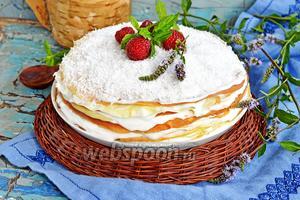 Блинный торт со сметанным кремом