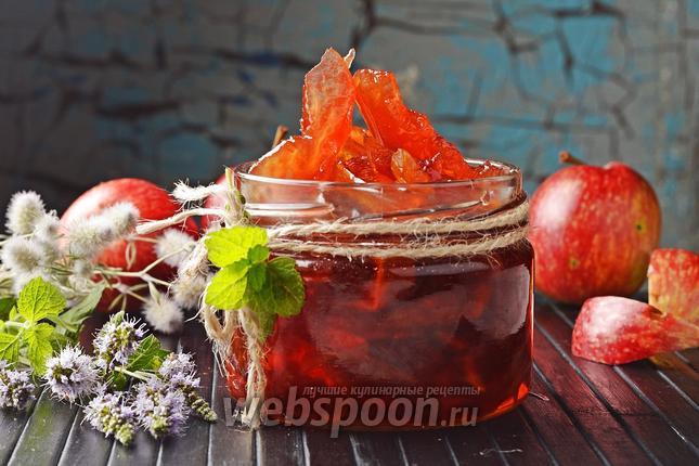 Фото Прозрачное варенье из яблок дольками (янтарное)