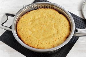 как приготовить бисквит на сковороде
