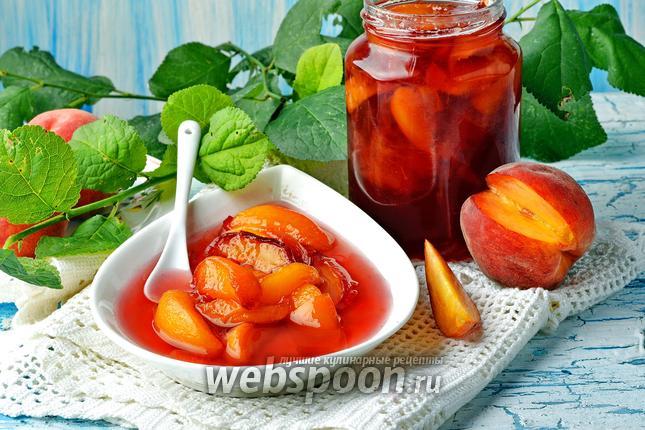 Фото Варенье из персиков пятиминутка