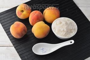 Для работы нам понадобятся персики, сахар и лимонная кислота.