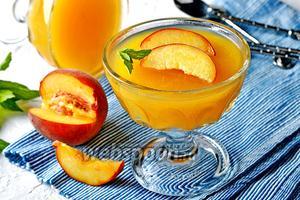 Желе из персиков