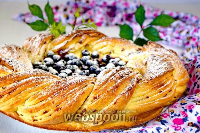 Фото Черничный пирог с творогом