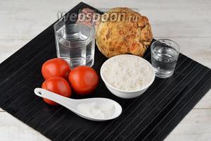 Для работы нам понадобятся помидоры, корень сельдерея, вода, соль, сахар, уксус столовый 9%.