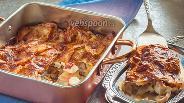 Фото рецепта Постная картофельная запеканка с осьминогом