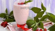 Фото рецепта Молочный коктейль с малиной