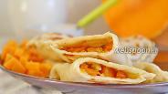 Фото рецепта Кутабы с тыквой и грецкими орехами