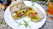 Фото рецепта Хот-дог в лаваше