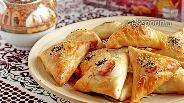 Фото рецепта Самса узбекская из слоеного теста с бараниной