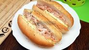 Фото рецепта Хот-дог с красной рыбой