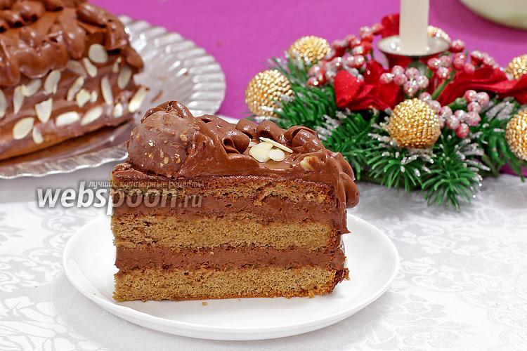 Фото Кофейный торт с шоколадным кремом