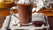 Фото рецепта Горячий шоколад с арахисовой пастой