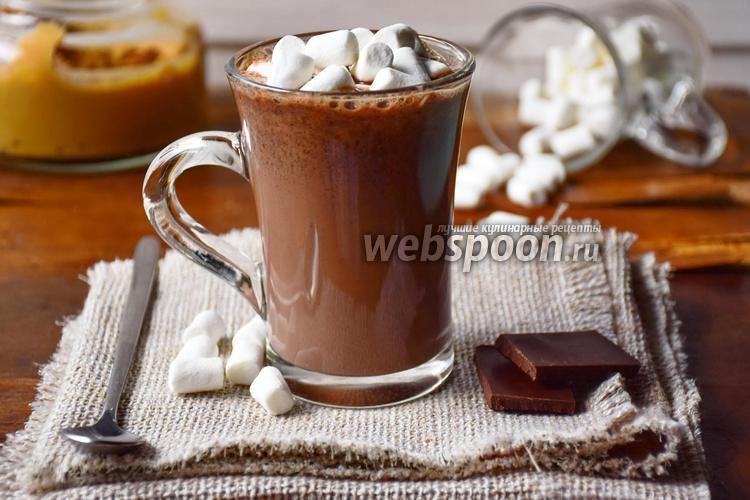 Фото Горячий шоколад с арахисовой пастой