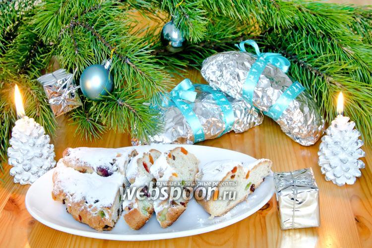 Фото Рождественские мини-штоллены с изюмом и сухофруктами