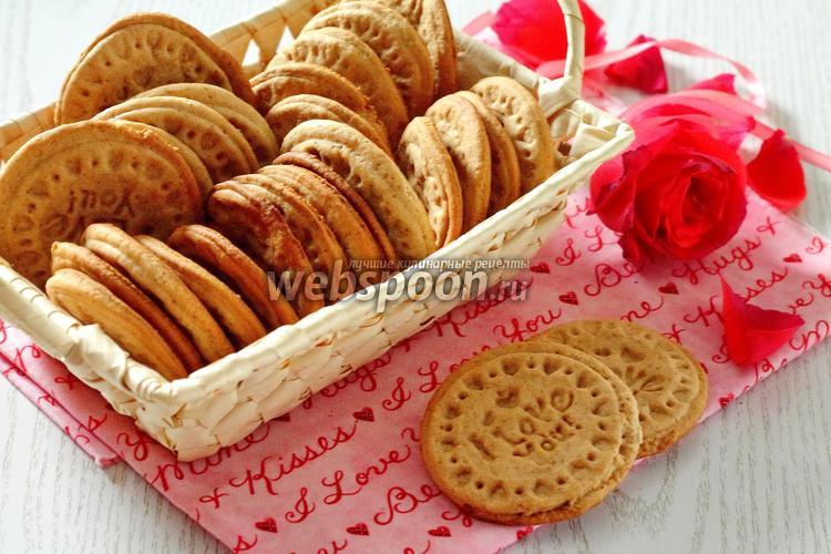 Фото Печенье с мёдом и корицей