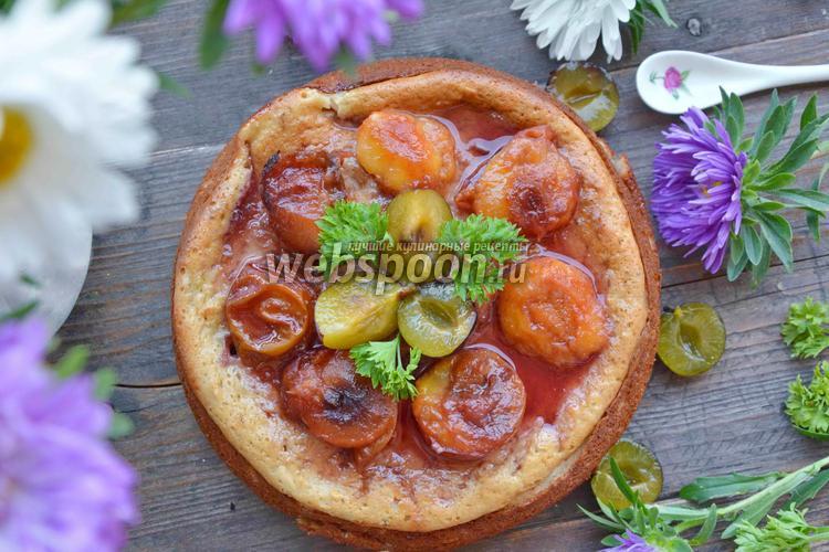 Фото Пирог с яблоками и сливами