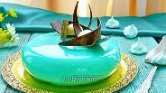 Фото рецепта Муссовый торт с зеркальной глазурью