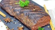 Фото рецепта Оленина копченая в духовке