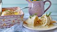 Фото рецепта Фаршированные кальмары с грибами и сыром