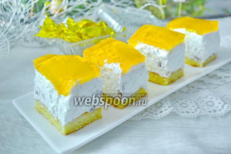 Фото Творожный торт с желе
