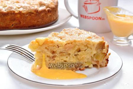 Ирландский яблочный пирог с заварным кремом