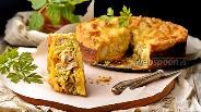 Фото рецепта Пирог с брокколи и курицей