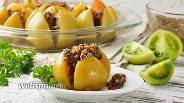 Фото рецепта Зелёные помидоры запеченные в духовке