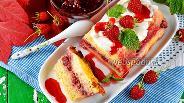 Фото рецепта Творожная запеканка с малиновым вареньем