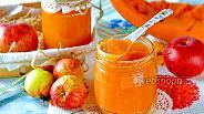 Фото рецепта Пюре из тыквы и яблок на зиму для детей