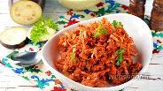 Фото рецепта Тушёная капуста с баклажанами в мультиварке