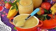 Фото рецепта Пюре из яблок и бананов на зиму для детей