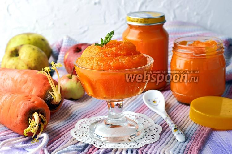 Фото Пюре из яблок и моркови для детей