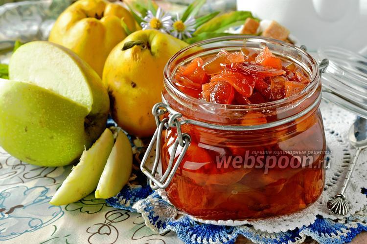 Фото Варенье из айвы и яблок