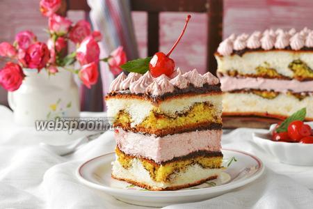 Разноцветные пирожные