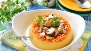 Фото рецепта Кукурузная каша с грибами